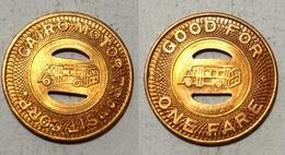 TOKEN JETON GETTONE TRASPORTO TRANSIT U.S.A. CAIRO - Monetari/ Di Necessità