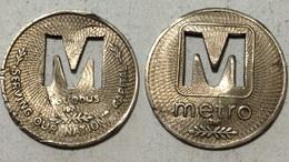 TOKEN JETON GETTONE TRASPORTO TRANSIT U.S.A. METROBUS CAPITAL - Monetary/Of Necessity
