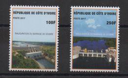 Côte D'Ivoire Ivory Coast 2017 Inauguration Du Barrage De Soubré Staudamm Dam 2 Val. - Côte D'Ivoire (1960-...)