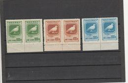 CHINA - 18-03-03 COMPLET SET.MICHEL # 57-59.  II EDITION. MNH **. IN PAIR. - 1949 - ... République Populaire