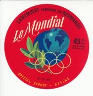 Etiquette De Fromage Camembert Le Mondial. - Fromage