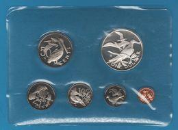 BRITISH VIRGIN ISLANDS 1974 PROOF SET 6 COINS IN BOX - British Virgin Islands