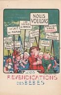 Ardéche : VALS LES BAINS  : Boire De L'eau De Vals Favorite ( Les Revendications Des Bébés ) - Vals Les Bains