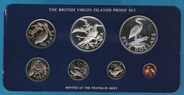 BRITISH VIRGIN ISLANDS 1980 PROOF SET 7 COINS IN BOX - Islas Vírgenes Británicas
