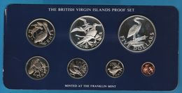 BRITISH VIRGIN ISLANDS 1980 PROOF SET 7 COINS IN BOX - British Virgin Islands