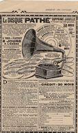Publicité Machine Parlante / Gramophone / Phonographe / Disque Pathe - Autres