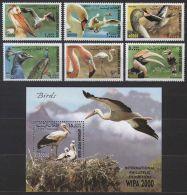 Afghanistan 2000 S/Sheet & Stamps Birds Peacock Goose Flamingo 7v Set MNH - Peacocks
