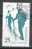 Romania 1961. Scott #C98 (U) Cross-country Skiing * - Poste Aérienne
