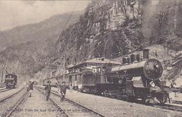 Train De Luxe Milan-Paris En Gare D'Iselle - 1919        (P-114-61011) - Gares - Avec Trains