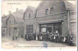 CPA  PAS-DE-CALAIS 62 LIEVIN Rue Thiers L'Union Fraternelle Société Coopérative Ouvrière - Lievin