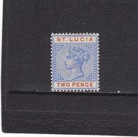 SAINTE LUCIE 1886 VICTORIA Yvert 32 NEUF* - Ste Lucie (...-1978)