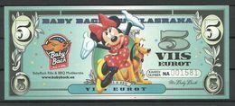 ESTLAND ESTONIA Estonie 5 EUR BBQ Advertising Geld Money Walt Disney Minnie Mouse 2018 UNC - Estonie