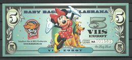 ESTLAND ESTONIA Estonie 5 EUR BBQ Advertising Geld Money Walt Disney Minnie Mouse 2018 UNC - Estonia