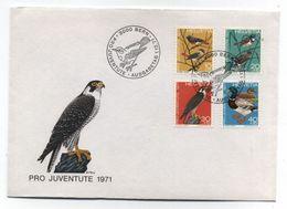 Switzerland PRO JUVENTUTE BIRDS OF PREY DUCK FDC 1971 - Andere