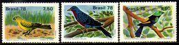 Brasil C 1036/38 Proteção à Fauna Pássaros 1978 NNN - Brasilien