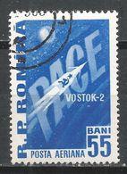 Romania 1961. Scott #C108 (U) ''Peace'' And Vostok 2 Rocket * - Poste Aérienne