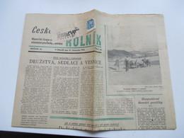 Böhmen U. Mähren 1944 Nr. 43 EF Auf Streifband Auf Kompletter Zeitung Vom 17.11.1944 - Briefe U. Dokumente