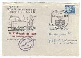 Germany DDR AUFGEGEBEN IM BAHNPOST WAGEN DES MUSEUMSZUGES 1989 - Trains