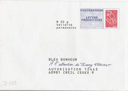 D042 - Entier / Stationery / PSE - PAP Réponse Lamouche - Bleu Bonheur - Agrément 07P796 - Entiers Postaux