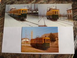 """HAGONDANGE (57) : Tramway De L'U.C.P.M.I. Enn 1961 - Lot De 3 CPM - MOTRICE 6 Et 12 """"ex Paris"""" CGPT  - Détails 2 Scans - Tramways"""