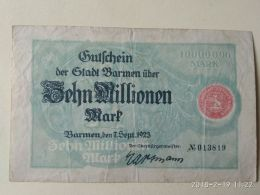 Barmrn 10 Milioni Mark 1923 - [11] Emissioni Locali