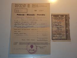 ISTRIA CROAZIA RICEVUTA POTRDIILO OCCUPAZIONE JUGOSLAVIA PARTIGIANI CLN C.L.N. BUJE BUIE POLA - Old Paper