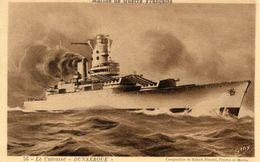 Marine Militaire Francaise  -  Le Cuirassé 'Dunkerque'  - CPA (Composition De Robert Blondel) - Guerre