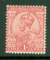 India: 1911/22   KGV      SG162    1a    Pale Rose-carmine       MH - India (...-1947)