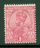 India: 1911/22   KGV      SG160    1a    Carmine       MH - India (...-1947)