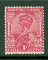 India: 1911/22   KGV      SG161    1a    Aniline Carmine       MH - India (...-1947)
