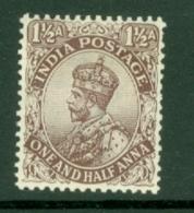 India: 1911/22   KGV      SG164    1½a    Grey-brown  [type A]     MH - India (...-1947)