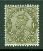 India: 1911/22   KGV      SG174    4a    Deep Olive      MH - India (...-1947)