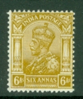 India: 1911/22   KGV      SG177    6a    Yellow-bistre      MH - India (...-1947)