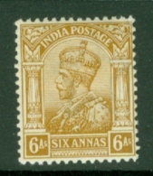 India: 1911/22   KGV      SG178    6a    Brown-ochre      MH - India (...-1947)