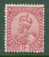 India: 1911/22   KGV      SG183    12a    Carmine-lake     MH - India (...-1947)