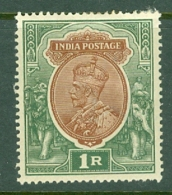 India: 1911/22   KGV      SG185    1R    Red-brown & Deep Blue-green     MH - India (...-1947)