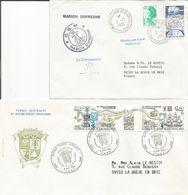Lot De 2  ENVELLOPES /  Terres Australes / Timbre / Marion Dufresne / Autographe Du C Ommandant  / - Covers & Documents