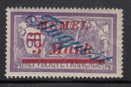 Memel 1922 MH Scott #C14 Flugpost, 3M On 60c Variety: Broken 'p' In Overprint - Besetzungen 1914-18