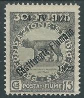 1922 FIUME COSTITUENTE FIUMANA 15 CENT MH * - I37-3 - Fiume