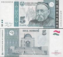Tajikistan 1999 (2013) - 5 Somoni - Pick 23 UNC - Tajikistan