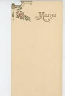 MENU - Joli MENU Vierge Avec Dorures Format 15X8 CM - Menus