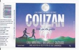 10 étiquettes EAU COUZAN - Labels