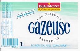 10 étiquettes EAU BEAUMONT - Labels