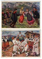 LOT  DE 40 CARTES  POSTALES   DE  FOLKLORE  N50 - Postcards