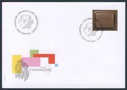"""Switzerland Schweiz Suisse 2001 FDCa + Mi 1759 - 100 Jahre Verband Schweizerischen Schokoladefabrikanten """"Chocosuisse"""" - Levensmiddelen"""