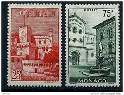 """Monaco YT 397 & 398 """"  Vues De La Principauté """" 1954 Neuf** - Unused Stamps"""