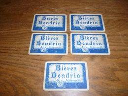 BC9-2-0 Lot De 5 Cartes à Jouer Brasserie Grammont Bières Dendria - Autres Collections