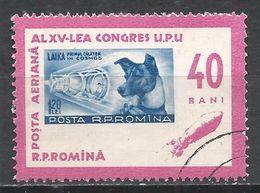 Romania 1963. Scott #C147 (U) Stamp On Stamp, Sputnik 2 And Laika (Dog) * - Poste Aérienne
