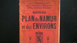 PLAN DE VILLE DE NAMUR ET DES ENVIRONS  BELGIQUE VIEUX PAPIERS CARTES - Planches & Plans Techniques