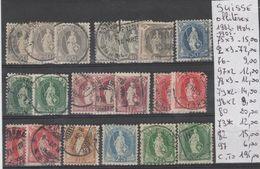 TIMBRES LOT DE SUISSE OBLITERE /*/ Nr VOIR SUR PAPIER AVEC TIMBRES  COTE 195.0€ - 1882-1906 Armoiries, Helvetia Debout & UPU